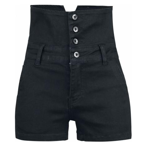 Forplay High Waist Denim Hot Pants Hot Pants black