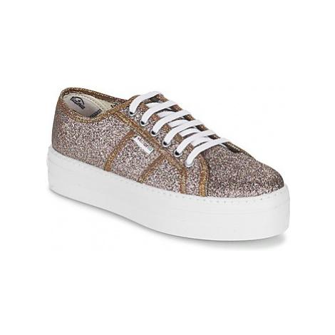 Victoria BLUCHER GLITTER PLATAFORMA women's Shoes (Trainers) in Silver