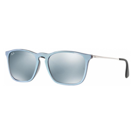 Ray-Ban Chris Man Sunglasses Lenses: Gray, Frame: Silver - RB4187 631930 54-18