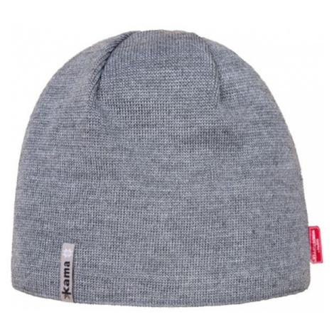Kama MERINO+WINDSTOPPER gray - Unisex hat