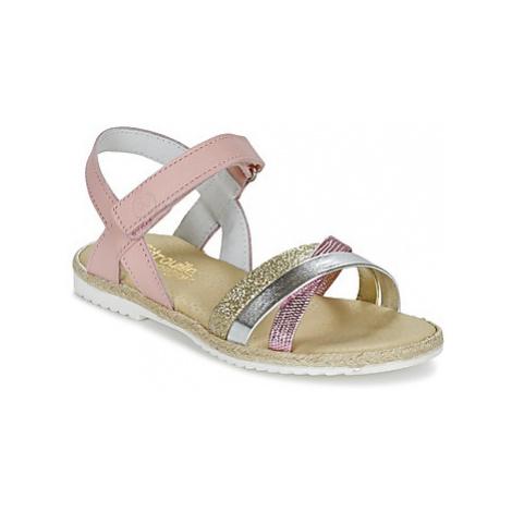 Citrouille et Compagnie GIRAFFON girls's Children's Sandals in Pink