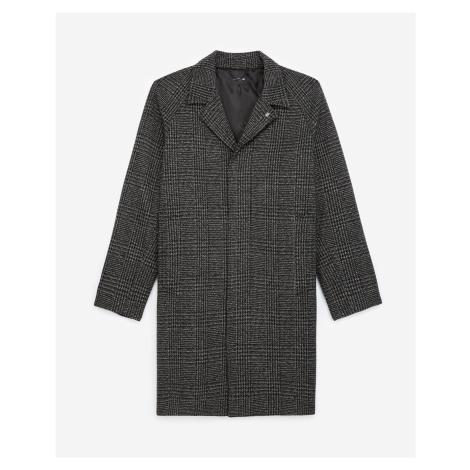 The Kooples - Dark grey wool coat with check motif - MEN