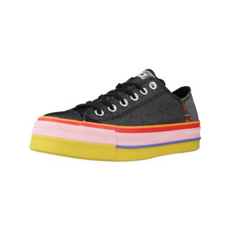 Converse LOW LIFT RAINBOW women's Shoes (Trainers) in Black