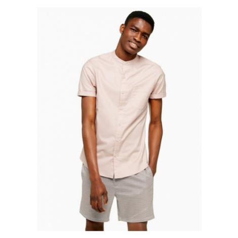 Mens Pink Stretch Skinny Oxford Shirt, Pink Topman