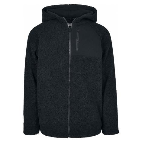 Urban Classics - Hooded Sherpa Zip Jacket - Hooded sweatshirt - black