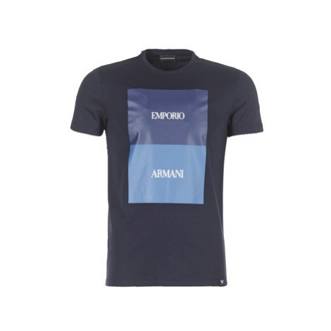 Emporio Armani BREWU men's T shirt in Blue