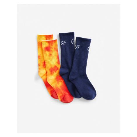 GAP Kids Socks 2 pairs Blue Orange