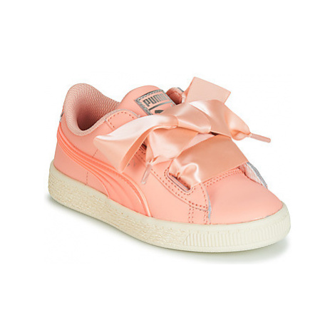 Puma INF BASKET HEART JELLY.PEA girls's Children's Shoes (Trainers) in Pink