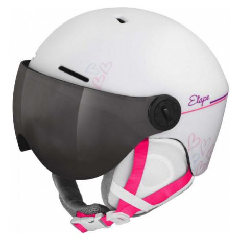 Etape SPEEDY PRO white - Children's ski helmet with a visor