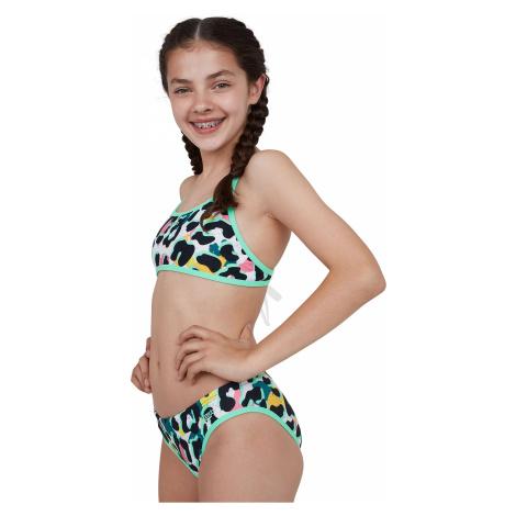 Girls Kids Junior JungleSpeak Tieback Bikini Speedo