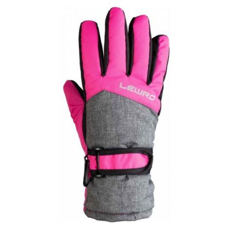 Lewro NALANI pink - Kids' ski gloves