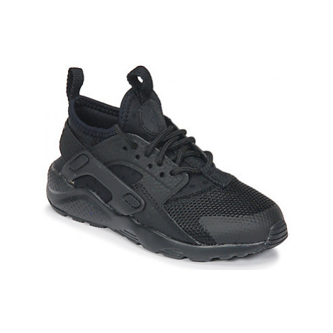 Nike HUARACHE RUN ULTRA PRE-SCHOOL girls's Children's Shoes (Trainers) in Black