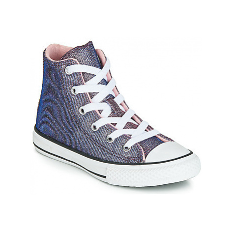 Converse CHUCK TAYLOR ALL STAR SPACE STAR HI girls's Children's Shoes (High-top Trainers) in Bla