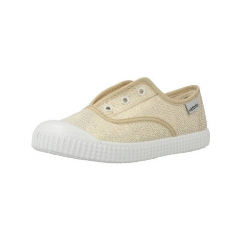 Victoria 1366103 girls's Children's Tennis Trainers (Shoes) in Gold