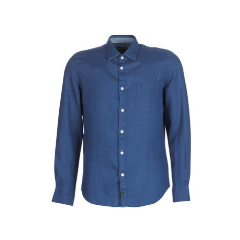 Marc O'Polo CARACOLIJE men's Long sleeved Shirt in Blue