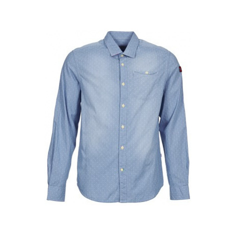Napapijri GEROL men's Long sleeved Shirt in Blue