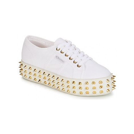 Superga 2790 STUDS COT W GERALDINA women's Shoes (Trainers) in White