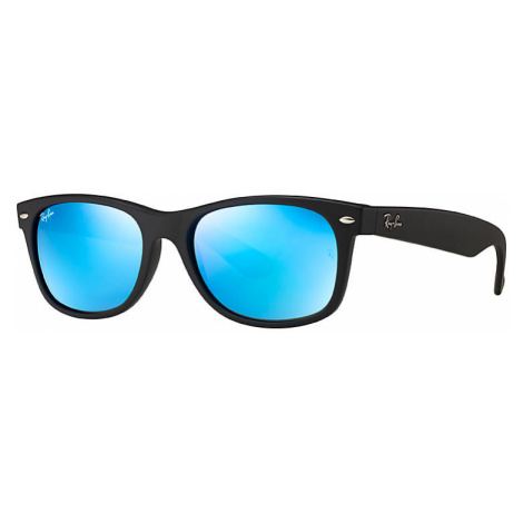 Ray-Ban New wayfarer flash Unisex Sunglasses Lenses: Blue, Frame: Black - RB2132 622/17 55-18
