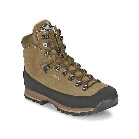 Brown men's trekking and outdoor shoes