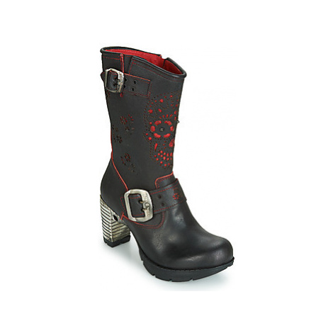 New Rock M.TR050-S1 women's High Boots in Black