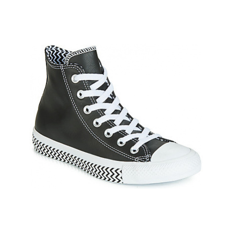 Converse CHUCK TAYLOR ALL STAR VLTG LEATHER HI women's Shoes (High-top Trainers) in Black