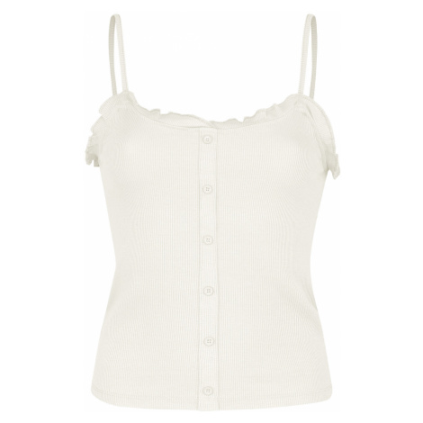 Sublevel - Thin Strap and Ruffles - Girls Top - off white