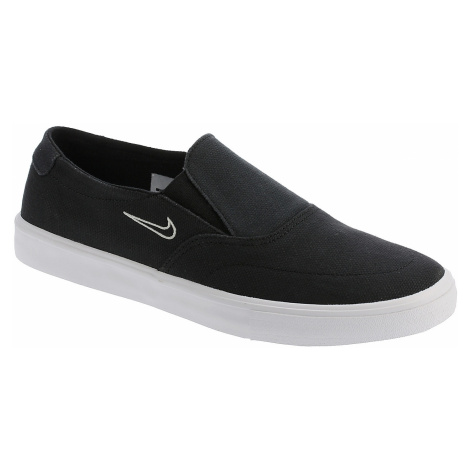 shoes Nike SB Portmore II Solarsoft Slip-On Canvas - Black/Black/Light Bone