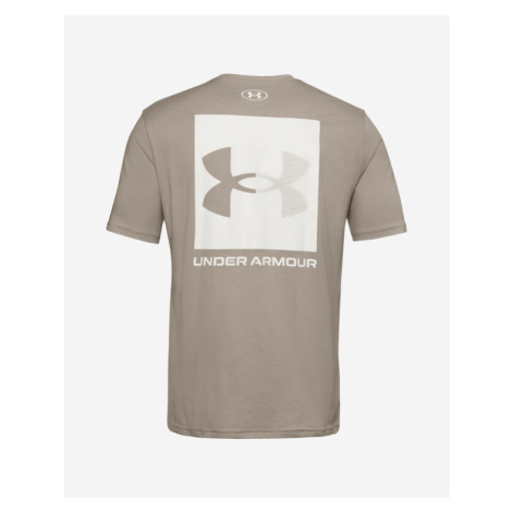 Under Armour Box Logo T-shirt Brown Grey