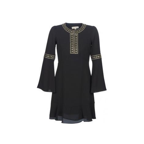 MICHAEL Michael Kors STUDDED FLOUNCE DRS women's Dress in Black