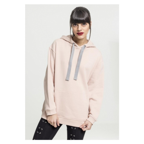 Urban Classics Ladies Oversize Hoody lightrose/grey