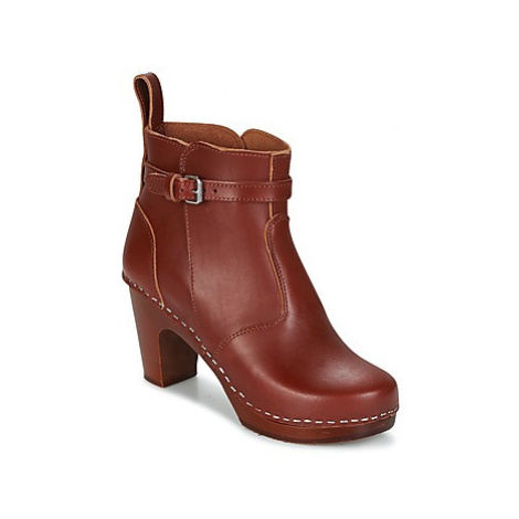 Swedish hasbeens HIGH HEELED JODHPUR women's Low Ankle Boots in Brown
