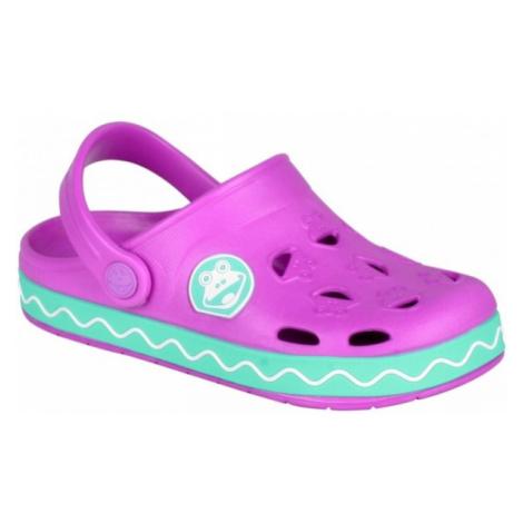 Coqui FROGGY pink - Kids' sandals