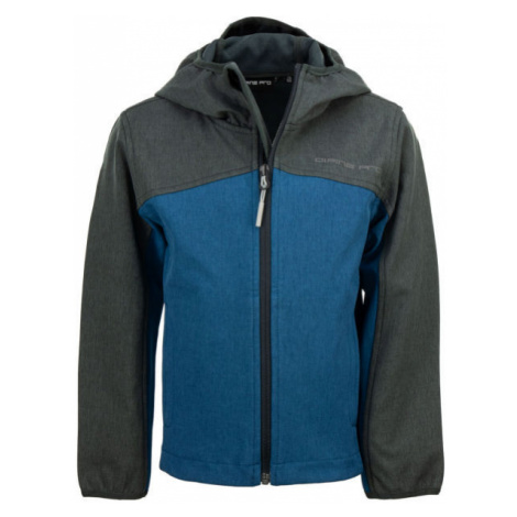 ALPINE PRO TAKANO blue - Kids' softshell jacket