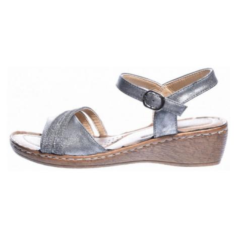Avenue GLUMSLOV dark gray - Men's summer shoes