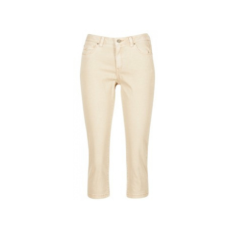 Esprit KARAVOTI women's Cropped trousers in Beige