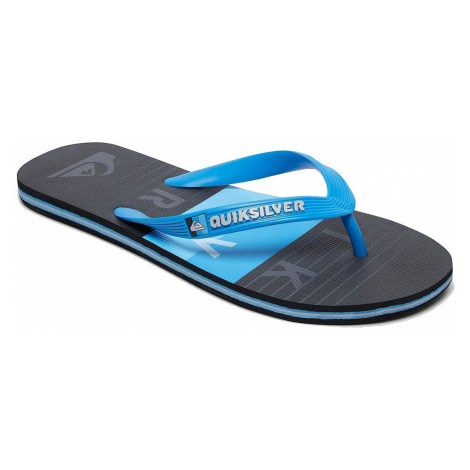 flip flops Quiksilver Molokai Word Block - XBKB/Blue/Black/Blue - men´s