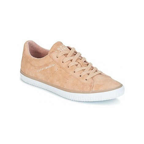 Esprit RIATA LACE UP women's Shoes (Trainers) in Pink