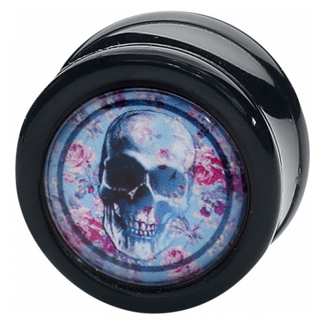 Wildcat - Rose Punch - Skull Pink Roses Plug - Ear Plug - multicolour