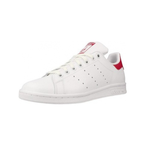 Adidas STAN SMITH J girls's Children's Shoes (Trainers) in White