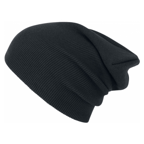 Urban Classics - Beanie Basic Flap Long Version - Beanie - black