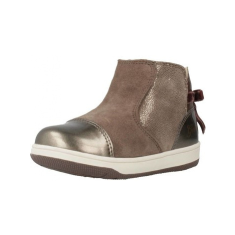 Geox B NEW FLICK G girls's Children's Shoes (High-top Trainers) in Brown