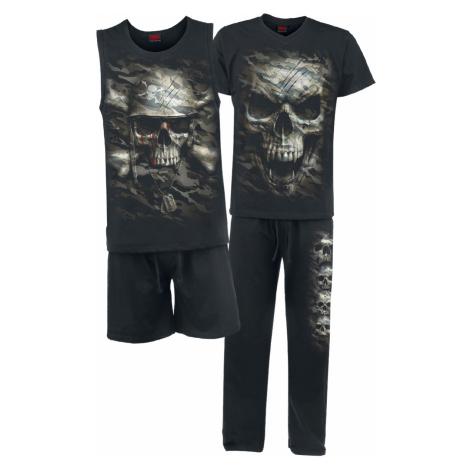 Spiral - Camo Skull - Pyjamas - black