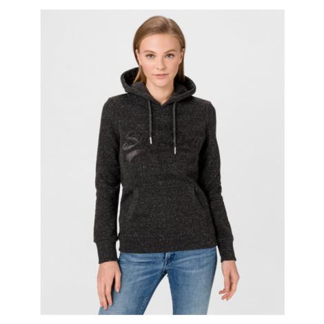 SuperDry Tonal Embossed Sweatshirt Black