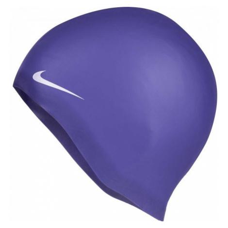 Nike SOLID SILICONE purple - Swimming cap