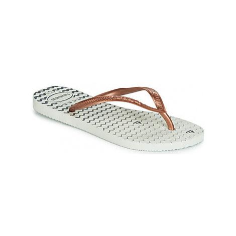 Havaianas SLIM OCEANO women's Flip flops / Sandals (Shoes) in White