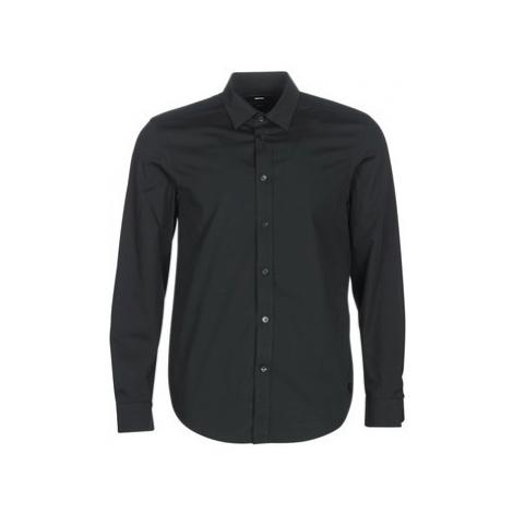 Diesel S BILL men's Long sleeved Shirt in Black