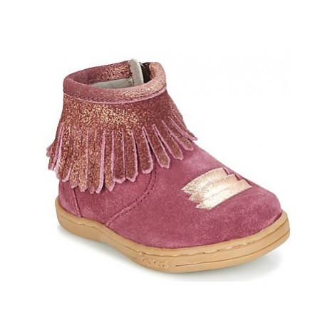 Kickers TABATA girls's Children's Mid Boots in Bordeaux