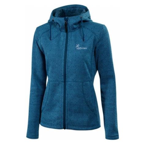 Klimatex LENDA blue - Women's hooded outdoor sweater