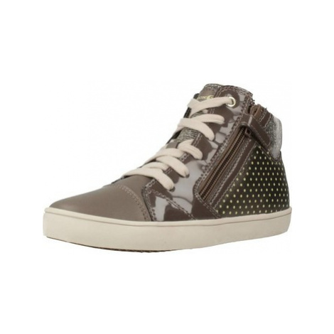 Geox J GISLI G C girls's Children's Shoes (High-top Trainers) in Brown