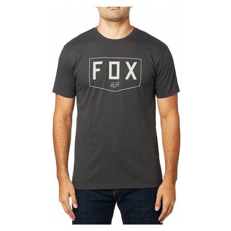 T-Shirt Fox Shield Premium - Black Vintage - men´s